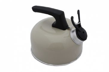 Sunncamp 1 Litre Portable Camping Whistling Kettle - Cream